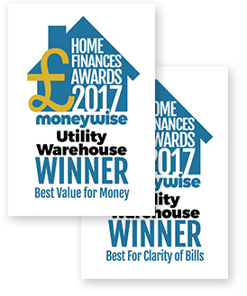 Moneywise Best Gas and Electricity Provider for Service </b><br> in the 2016 Moneywise Home Finances awards