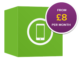 Tarrifs from £8 per month